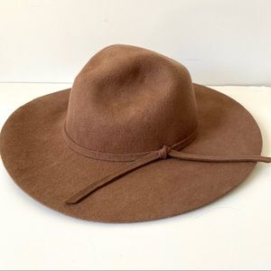 Phase 3 Wool Brown Floppy Boho Hat one size